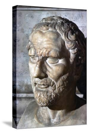 Demosthenes. Greek Orator & Statesman, 384-322 BC-Unknown-Stretched Canvas Print