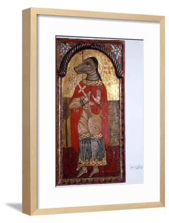 St Christopher with a Dog's Head, Byzantine Icon, 1685-Unknown-Framed Giclee Print