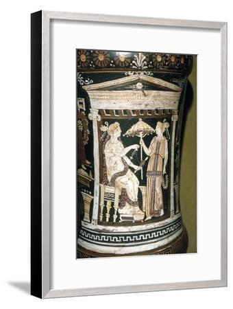 Apulian Vase, Penelope Spinning Wool, c340 BC-Unknown-Framed Giclee Print