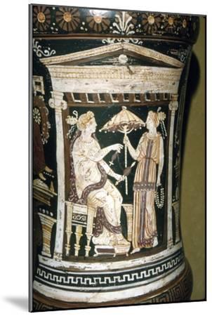 Apulian Vase, Penelope Spinning Wool, c340 BC-Unknown-Mounted Giclee Print