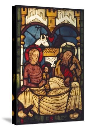 Holy Family in the Stable from a Swedish Church, c20th century-Unknown-Stretched Canvas Print