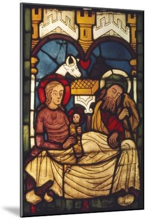 Holy Family in the Stable from a Swedish Church, c20th century-Unknown-Mounted Giclee Print