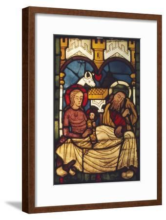 Holy Family in the Stable from a Swedish Church, c20th century-Unknown-Framed Giclee Print