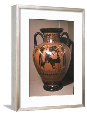 Herakles and the Hind of Ceryneia, Attic Amphora Vase, c540BC-Unknown-Framed Giclee Print