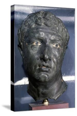 Bronze Greek Portrait head of a man, late Hellenistic Period, c1st century BC-Unknown-Stretched Canvas Print