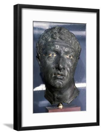 Bronze Greek Portrait head of a man, late Hellenistic Period, c1st century BC-Unknown-Framed Giclee Print