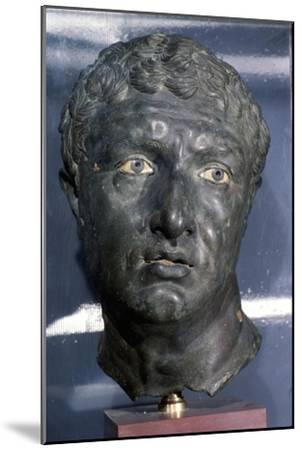Bronze Greek Portrait head of a man, late Hellenistic Period, c1st century BC-Unknown-Mounted Giclee Print