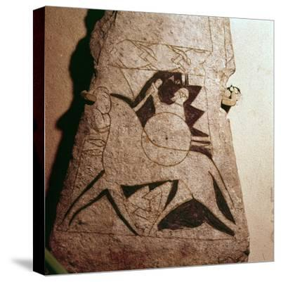 Detail of a Viking Horseman, Stela, Gotland, c8th century-Unknown-Stretched Canvas Print