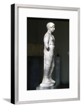 Kore, Persephone wearin Ionaian Chiton and Himation Attic Sculpture, c420 BC-Unknown-Framed Giclee Print