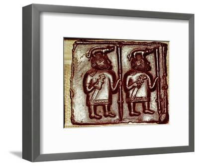 Bronze Matrix for making decorative peaques for helmets, 8th century-Unknown-Framed Giclee Print
