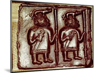 Bronze Matrix for making decorative peaques for helmets, 8th century-Unknown-Mounted Giclee Print