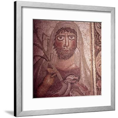 Detail of Simon on Mosaic Pavement, 5th century-Unknown-Framed Giclee Print