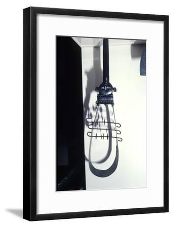 Bronze Egyptian sistrum, dated after 850BC-Unknown-Framed Giclee Print