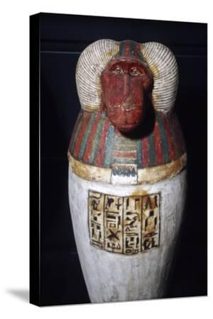Thoth as Baboon, Canopic Jar, 22nd Dynasty, c1550BC-1069 BC-Unknown-Stretched Canvas Print