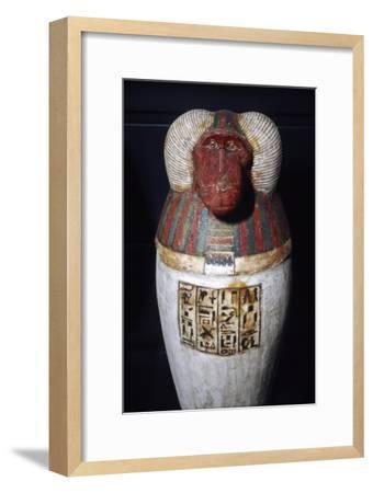 Thoth as Baboon, Canopic Jar, 22nd Dynasty, c1550BC-1069 BC-Unknown-Framed Giclee Print