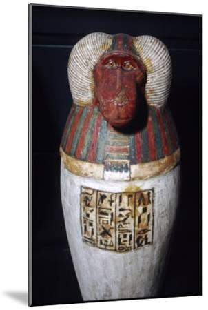 Thoth as Baboon, Canopic Jar, 22nd Dynasty, c1550BC-1069 BC-Unknown-Mounted Giclee Print