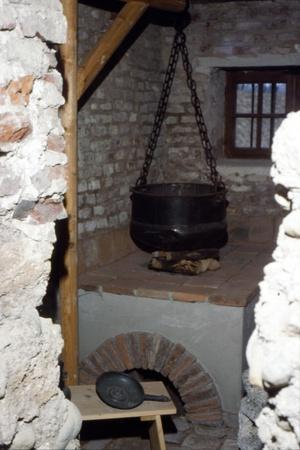 Roman Kitchen with Stove and Cooking Pot, c20th century-Unknown-Framed Giclee Print