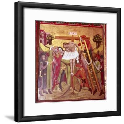Detail from the Descent from the Cross. North German School, 1435-1440-Unknown-Framed Giclee Print