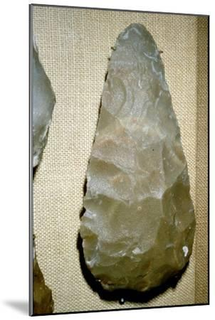 Paleolithic Flint Handaxe from Chelles, 500,000 to 100,000 BC-Unknown-Mounted Giclee Print