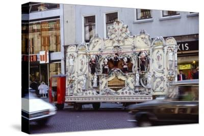 Street Organ in Dutch Town, Holland, 20th century-Unknown-Stretched Canvas Print