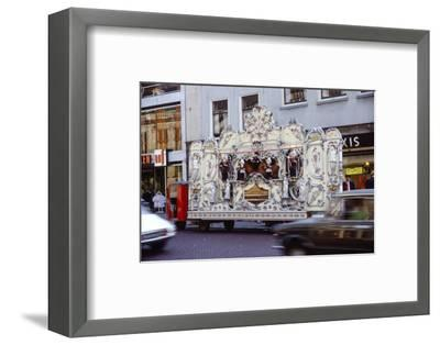Street Organ in Dutch Town, Holland, 20th century-Unknown-Framed Photographic Print