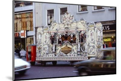 Street Organ in Dutch Town, Holland, 20th century-Unknown-Mounted Photographic Print