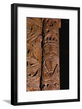 Detail of carving of Stave Church from Gol in Hallingdal, built c1200-Unknown-Framed Giclee Print