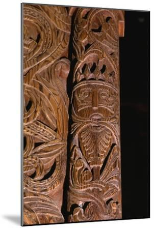 Detail of carving of Stave Church from Gol in Hallingdal, built c1200-Unknown-Mounted Giclee Print