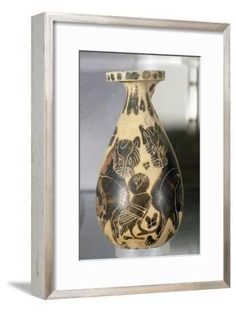 Jar with design of Owl and Panthers, Corinthian Style, 7th century BC-Unknown-Framed Giclee Print