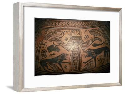Greek Pithos, (Jar) from Thebes, 7th century BC-Unknown-Framed Giclee Print