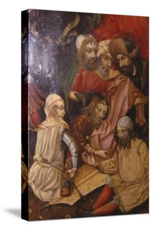 Detail of Crucifixion, Frankfurt, West Germany, 1430-Unknown-Stretched Canvas Print
