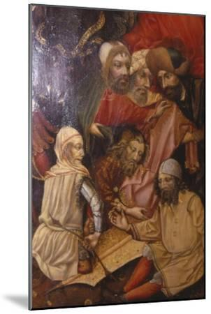 Detail of Crucifixion, Frankfurt, West Germany, 1430-Unknown-Mounted Giclee Print