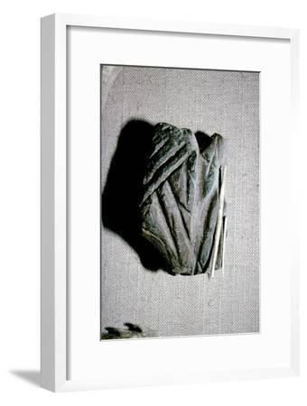 Paleolithic Polishing Stone for Sharpening Bone Harpoons from Dordogne, c50,000BC-c10,000 BC-Unknown-Framed Giclee Print