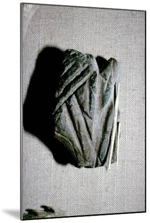 Paleolithic Polishing Stone for Sharpening Bone Harpoons from Dordogne, c50,000BC-c10,000 BC-Unknown-Mounted Giclee Print