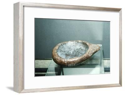 Paleolithic Stone Lamp from La Mouthe, France, 50,000BC-10,000BC-Unknown-Framed Giclee Print