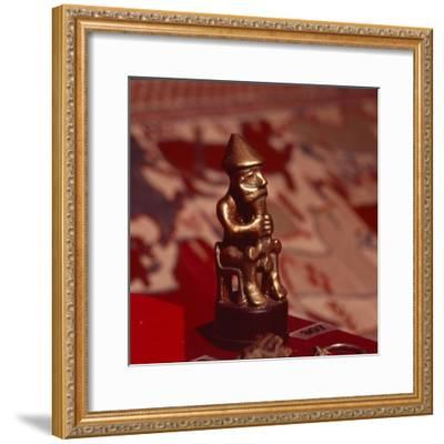 Bronze statuette of Thor, Viking God, c1000-Unknown-Framed Giclee Print