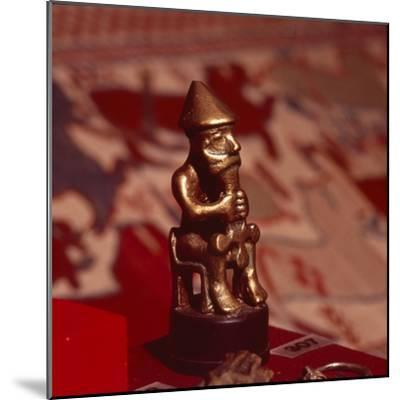 Bronze statuette of Thor, Viking God, c1000-Unknown-Mounted Giclee Print