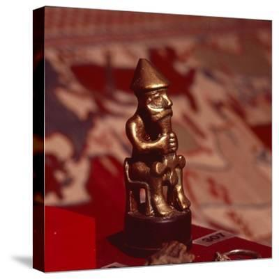 Bronze statuette of Thor, Viking God, c1000-Unknown-Stretched Canvas Print