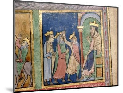 Detail from a Psalter the Magi and Herod, c1140-Unknown-Mounted Giclee Print