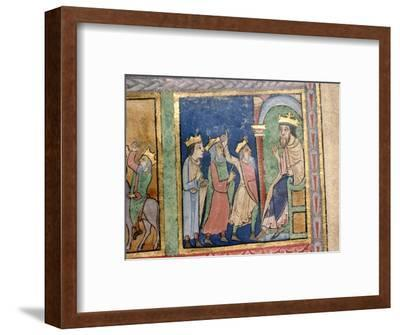 Detail from a Psalter the Magi and Herod, c1140-Unknown-Framed Giclee Print