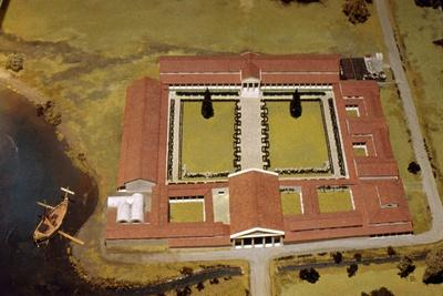 Model of Roman Villa, (Royal Palace) at Fishbourne, Sussex, England, c1st-3rd century-Unknown-Framed Giclee Print