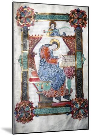 St. Matthew writing his Gospel, Anglo-Saxon work, c1062-65-Unknown-Mounted Giclee Print