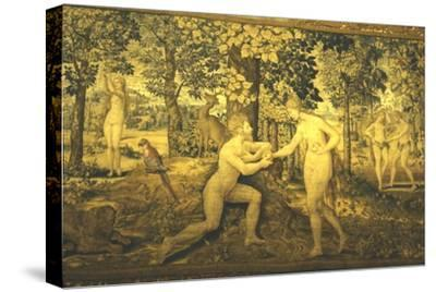 Adam and Eve. The Temptation, c16th century, (20th century)-Unknown-Stretched Canvas Print