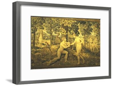 Adam and Eve. The Temptation, c16th century, (20th century)-Unknown-Framed Giclee Print