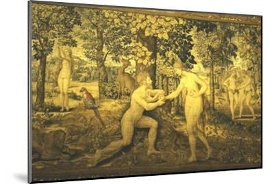 Adam and Eve. The Temptation, c16th century, (20th century)-Unknown-Mounted Giclee Print