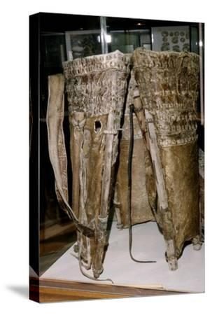 Leather Russacks found in the Salt Mines of Hallstatt, Austria: Celtic Iron Age: c. 6th century BC-Unknown-Stretched Canvas Print