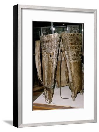 Leather Russacks found in the Salt Mines of Hallstatt, Austria: Celtic Iron Age: c. 6th century BC-Unknown-Framed Giclee Print