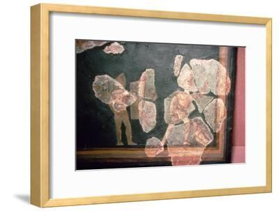 Roman wallpainting from a House at Colchester, England, c2nd-3rd century-Unknown-Framed Giclee Print