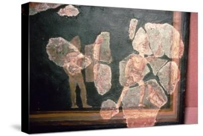 Roman wallpainting from a House at Colchester, England, c2nd-3rd century-Unknown-Stretched Canvas Print
