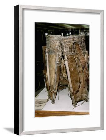 Leather Russacks found in Salt Mines of Hallstatt, Austria. Celtic Iron Age, c6th century BC-Unknown-Framed Giclee Print
